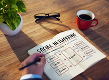 Social Networking Channel Diagram Graphic Concept Stock Image