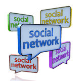 Social networking and chat concept Stock Photography