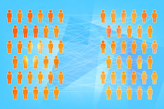 Social  networking concept. A lot of people connected by a network Royalty Free Stock Image