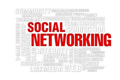 Social  networking concept. Of new media communication, image isolated on a white background Royalty Free Stock Image