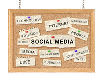 Social networking concept stock image