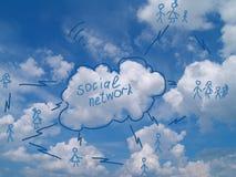 Social networking concept Stock Photos