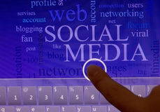 Social networking concept Stock Photos