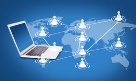 Social networking concept Stock Images