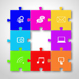Social networking concept stock illustration