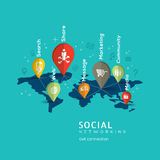 Social Networking concept illustration Royalty Free Stock Photos