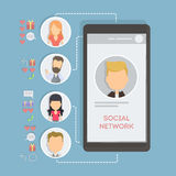 Social networking concept. Royalty Free Stock Photography