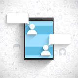 Social Networking concept with smartphone. Stock Photos