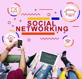 Social Networking Connection Online Sharing Concept Stock Photography