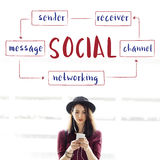 Social Networking Connection Technology Concept Stock Photos