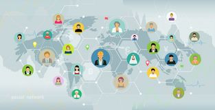 Social networking connections Stock Images