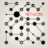 Social Networking Creative Icon Collection Royalty Free Stock Image