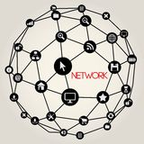 Social Networking Creative Icon Collection Royalty Free Stock Images