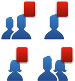 Social Networking Friends. Social networking technology friendship symbols Royalty Free Stock Photography
