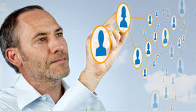 Social networking - futuristic Royalty Free Stock Photo