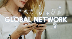 Social Networking Global Communications Technology Connection Co. Ncept stock photography
