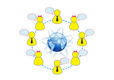 Social Networking Global Friends Illustration Royalty Free Stock Photography