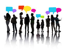 Social Networking. Group of people social networking royalty free stock photos