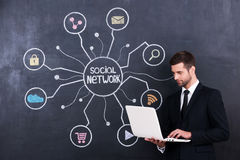 Social networking. Royalty Free Stock Photo