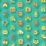 Social Networking-Hexagon-Muster Lizenzfreies Stockbild