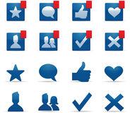 Social Networking Icons. Social networking technology friendship symbols royalty free illustration