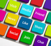 Social networking icons Royalty Free Stock Image