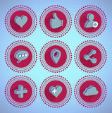 Social networking icons Royalty Free Stock Photos