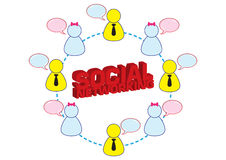 Social Networking Illustration Royalty Free Stock Image