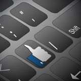 Social networking, keyboard or keypad Royalty Free Stock Image