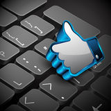 Social networking, keyboard or keypad Royalty Free Stock Photos