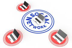 Social Networking Through Laptops Royalty Free Stock Image