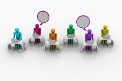 Social Networking-Leute mit Spracheblase Lizenzfreies Stockbild