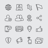 Social networking line icon Stock Photography