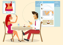 Social networking stock illustration