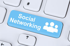 Social networking or media internet online friendship communicat Stock Photo