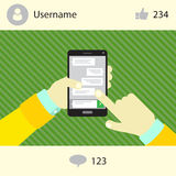 Social networking mobile phone Stock Photos