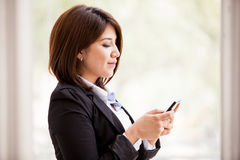 Social networking at the office Royalty Free Stock Photo