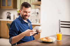 Social networking over breakfast Stock Images