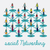 Social networking Stock Image