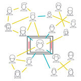 Social Networking People Conceptual Vector Design Stock Photography