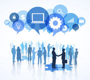 Social Networking People Group Speech Bubbles Concept Stock Photography
