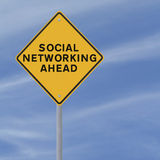 Social Networking Road Sign Stock Image