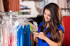 Social networking at the store stock photography