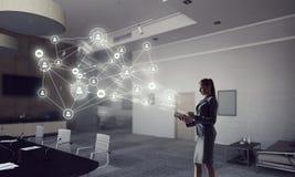 Social Networking-Technologien Gemischte Medien Lizenzfreies Stockbild