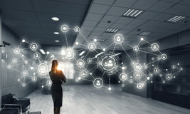 Social Networking-Technologien Gemischte Medien Lizenzfreie Stockfotos