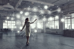 Social Networking-Technologien Gemischte Medien Lizenzfreie Stockbilder