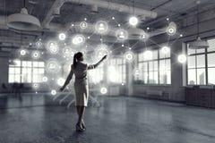 Social Networking-Technologien Gemischte Medien Stockfotografie