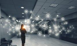 Social Networking-Technologien Gemischte Medien Stockbilder
