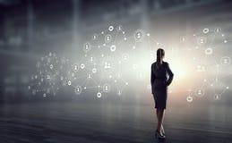 Social Networking-Technologien Gemischte Medien Lizenzfreies Stockfoto