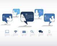 Social Networking-Vektor Lizenzfreies Stockfoto